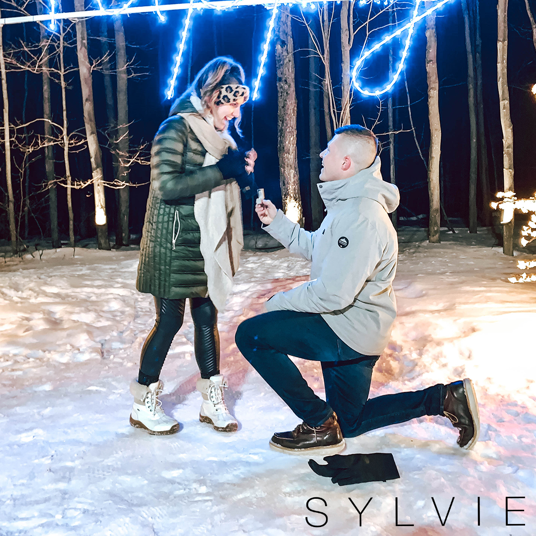 sylvie bride teanna getting proposed to